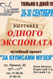 Проект «За кулисами музея»