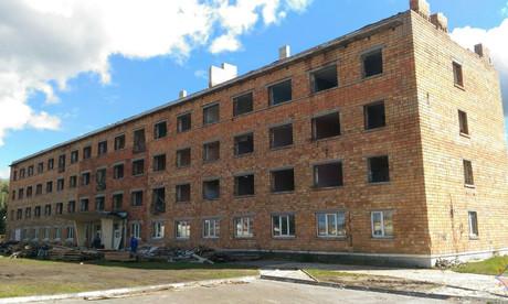 В Пинске взорвали общежитие